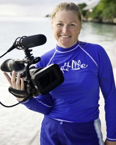 Producer Annie Crawley with Panasonic High Definition Video Camera