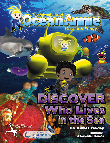 Discover Who Lives in the Sea Ocean Book from The Adventures of Ocean Annie by Annie Crawley