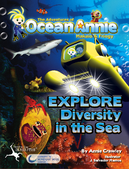 Explore Diversity in the Sea in The Adventures of Ocean Annie Book by Annie Crawley illustrated by J. Salvador Ramos