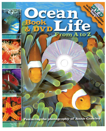Ocean Life From A to Z Book and DVD by Annie Crawley