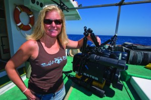 Annie Crawley with Underwater Video System