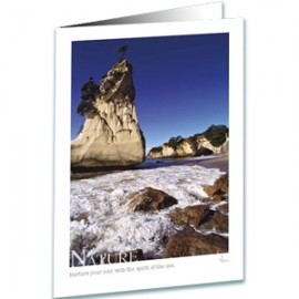 Nature Greeting Card - Inspirational Greeting Cards - Cathedral Cove New Zealand - Underwater Photography - AnnieCrawley.com