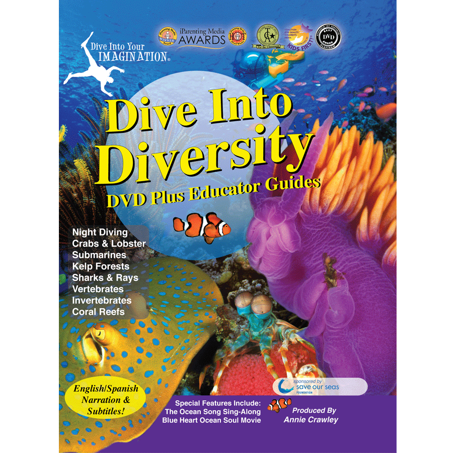 Dive Into Diversity DVD - Streaming Ocean Movies for Kids - Award Winning Movies for Kids - AnnieCrawley.com