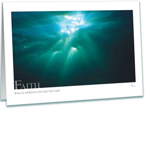 Faith Greeting Card - Underwater Sunset - Underwater Photography - AnnieCrawley.com