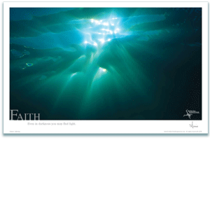 Faith Poster - Underwater Sunset Poster - Inspirational Poster - Underwater Photography - AnnieCrawley.com
