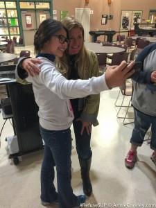 Hidden River Middle School Selfie Student Speaker Ocean Plastic Annie Crawley