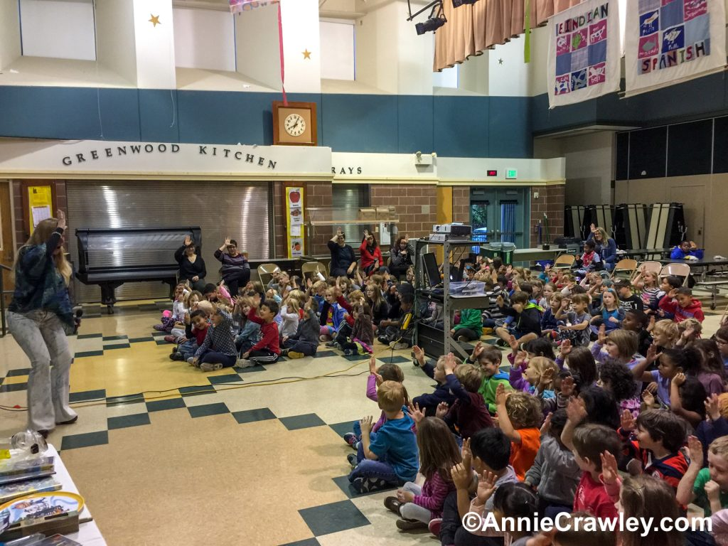 Annie Crawley presents Our Ocean and You to Greenwood Elementary