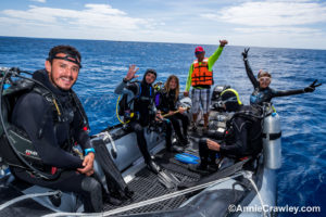 Join dive master Edgar, scientists, and underwater photographer Annie Crawley aboard the Quino El Guardian Midriff Islands Scuba Diving Expedition July 2017.