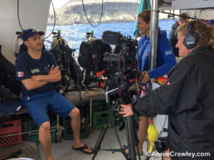 You become the photographer and filmmaker with Annie Crawley aboard the Quino El Guardian Midriff Island Scuba Diving Expedition.