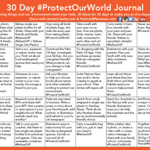 Be an eco-superstar and help #ProtectOurWorld by raising awareness for 30 Days